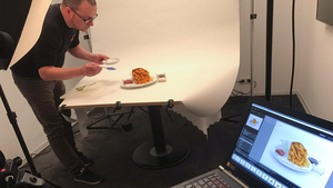Foodstyling mit Pinsel