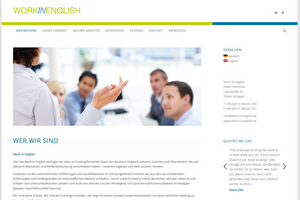 WordPress-Webseite: work-in-english.de