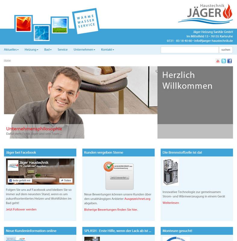 Jäger Haustechnik jäger haustechnik karlsruhe internetagentur medienwerkstatt