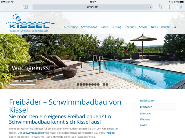 WordPress-Webseite: Kissel.de